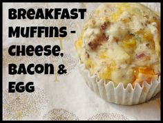 Easy breakfast muffins - great for a quick breakfast on the run or after school snack.