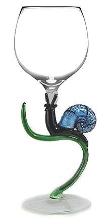 Blue Snail - Yurana hand blown glass