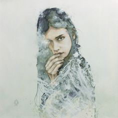 "Saatchi Online Artist: Oriol Angrill Jordà; Paper, Mixed Media ""CLOUDY EYE"