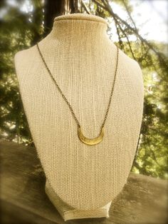 for the BOHEMIAN: crescent moon hammered brass necklace from Raw Elements $39