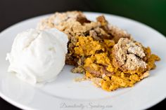 Crockpot Pumpkin Spice Dump Cake