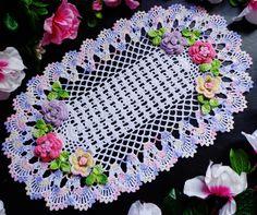 hand crochet, crocheted doilies, crochet doilies, floral crochet