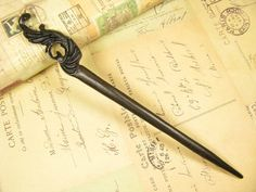 Exquisite Carbonized Wood Hair Stick by epstone on Etsy, $12.00