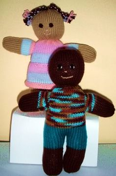 Knitted One Piece Doll - Free Pattern