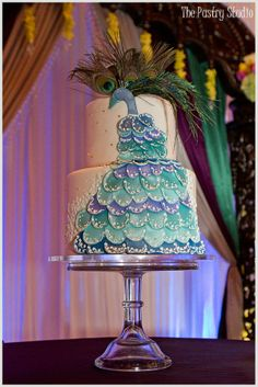 A Beautiful Indian Wedding with a Peacock themed Wedding Cake by The Pastry Studio: Daytona Beach ,Fl
