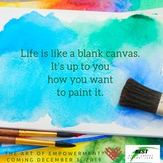 Each person in the brain injury community has their own unique form of personal empowerment, much like a blank canvas, to paint whatever they like best.   We like to think of this process as an art form.  And we are going to celebrate this art December 3, 2019. Learn more at the BEST blog at the link in our bio and save the date!  #TBITalk #empowerment #engageenergizeempower #selfcare #braininjuryawareness #braininjury #TBI #ABI #PCS #stroke #givingtuesday #GivingTuesday #GivingTuesday2019 #art
