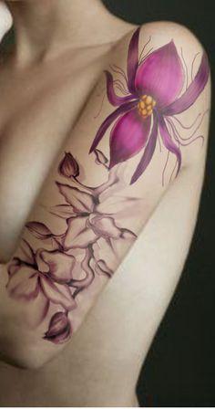 Orchid tattoo    #Tattoos  #Tattoo  #Tatts  #Tatt  #Tats  #Tat  #Inked  #Ink  #Body  Art