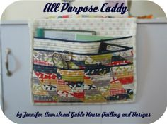 caddy 92 by Jennifer Overstreet | Gable House & Co., via Flickr car seats, sewing machines, craft, quilting tutorials, bake shop, home gifts, sewing tutorials, moda bake, purpos caddi