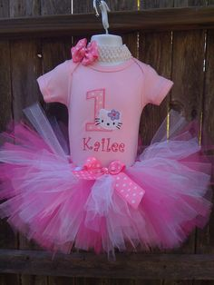 Hello Kitty 1st birthday outfit idea