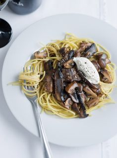Spaghettis aux champignons Recettes | Ricardo