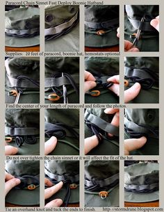 Paracord Chain Sinnet Fast Deploy Boonie Hatband