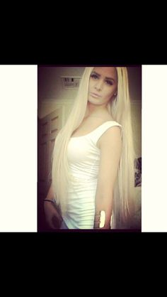 Platinum Blonde Hair Extensions 24 Inch 100