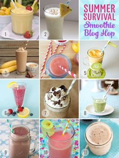12 yummy smoothie recipes   a @Blendtec blender giveaway! Yay for summer!