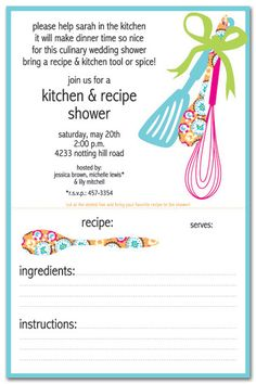 kitchen-themed invite @Desiraé Marks Munoz