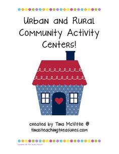 Urban and Rural Community Centers-Perfect way to consolidate your students' learning of Urban and Rural communities with Craftivities, technology and integration!! Easy to set up- $5!