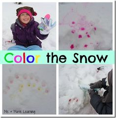 Color the Snow from Me & Marie Learning