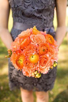 A vibrant orange bouquet #weddingbouquet #bouquet