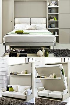 Nuovoliola self standing queen size wall bed open
