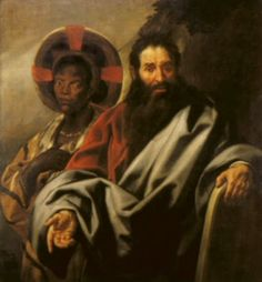 Jacob Jordaens, Moses and his Ethiopian wife. 1650; oil on canvas