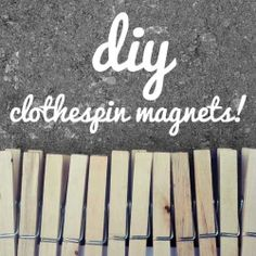 Anyone can make these super cute and versatile clothespin magnets ! magnet diy, diy clothespin, magnets, crafti heart, clothespin magnet, fun, craft hour, clothespin idea, clothespins
