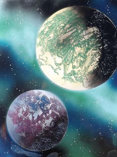 Spray paint art on pinterest space painting spray paint for Space art tutorial