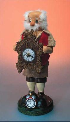 Zim's Heirloom Collectible Cuckoo Clock Maker 13 Inch Wooden Christmas Nutcracker
