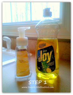 Make Your Own Foaming Hand Soap - so simple, never run out again (lemon for the kitchen)