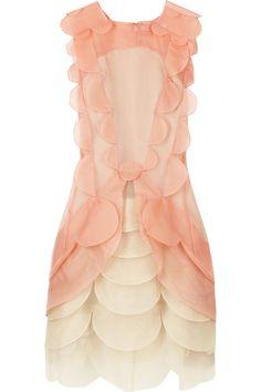 Silk blush scallop dress / Christopher Kane