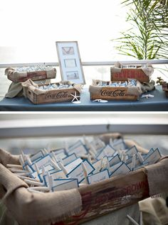 place card holders, escort cards, place cards, seating cards, beach weddings