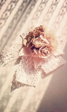 dried roses & lace