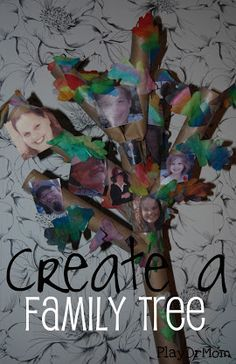 PlayDrMom's son came up with a very creative way to make a family tree!  A wonderful way to learn about your family and how you are all connected.