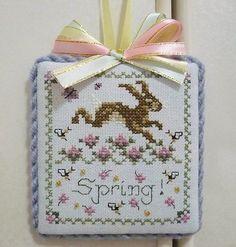 Finished Completed Just Nan Cross Stitch Ornament Hanger Spring | eBay