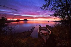 Lough Corrib and first light.