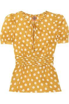 Tory Burch  Ruth polka dot cotton top
