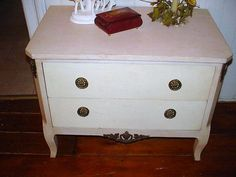 Vintage Pastel Furniture Nightstand Dresser by SimplyCottageChic, $165.00