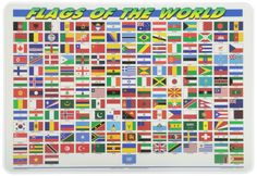 M. Ruskin Flags Of The World Placemat From: Amazon.ca: Home & Kitchen