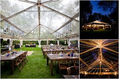 clear tent for outdoor wedding, very pretty with string lights once sun goes down!!!