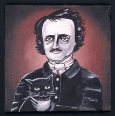 Edgar Allan Poe Original painting #5 in the Halloween Series