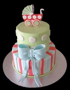 Baby Shower Cake with Carriage