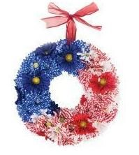 4th of July Floral Wreath floral wreaths