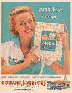 The original turquoise and orange  -  Howard Johnson's ' )