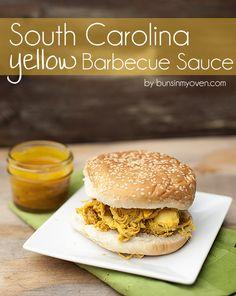 South Carolina Yellow Barbecue Sauce #recipe by bunsinmyoven.com