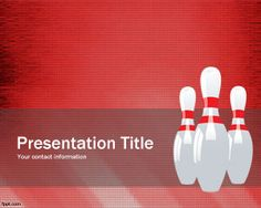 Free Bowling Pins PowerPoint Template is a free background template and slide design that you can download to make presentations on bowling sport and bowling training