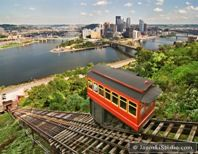 The Duquesne Incline in Pittsburgh offers a breathtaking view of the skyline.