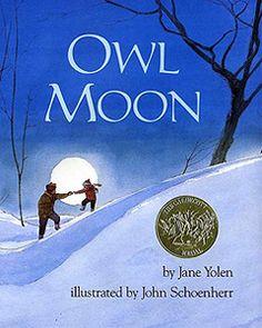 owl moon, owl theme, book, owl unit
