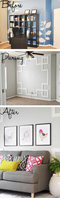 Office redo and loving this wall! @B R O O K E // W I L L I A M S Ulrich