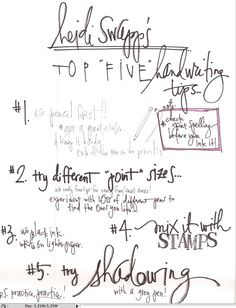 top 5 handwriting tips