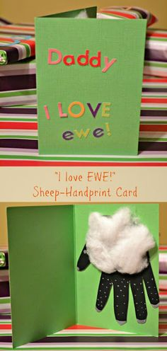 Sheep Hand Print (Toddler Craft) by Domestic Geek