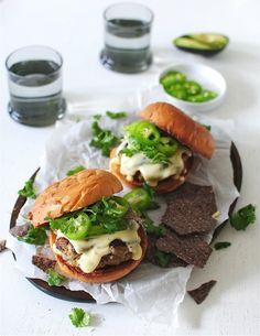 Queso Turkey Burgers / Bev Cooks