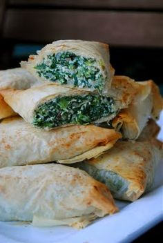 """I feared phyllo dough. It was an irrational fear. Now it is a fear I have conquered."" --@JuliaMestas. :) Check out her awesome spanakopita!"
